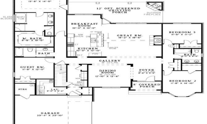 Unique Open Floor Plans Plan House Designs