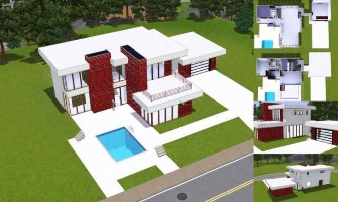 Unique Sims Modern House Floor Plans New Home Design