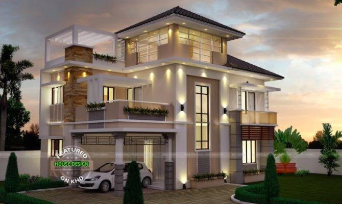 Unusually Modern Three Storey House Home Design
