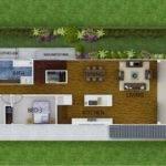 Upper Floor Plan Small Suburban Blocks Flat Sloping