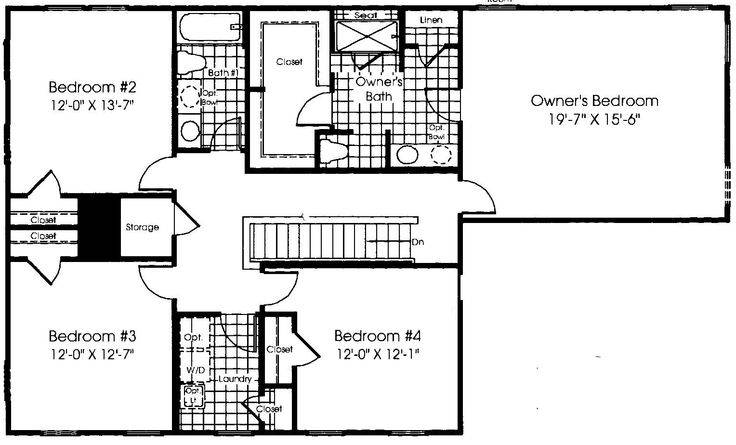Upstairs Floor Plan Ryan Homes Verona New House Pinterest