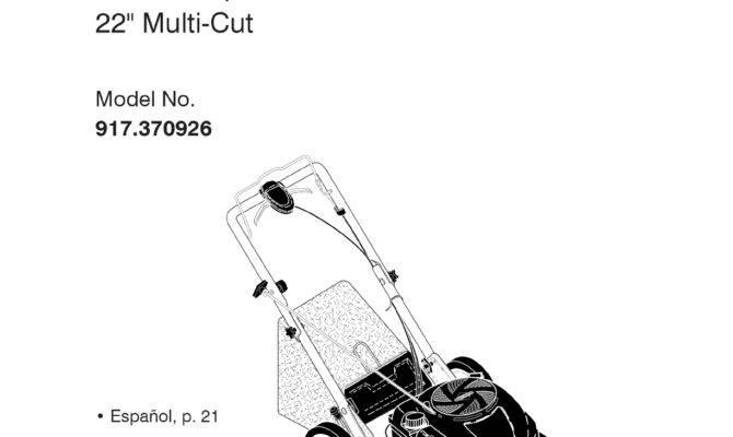 User Manual Craftsman Lawn Mower Product Guide