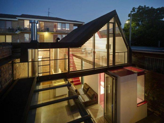 Vader House Victorian Terrace Features Modern Framed Steel Skeleton
