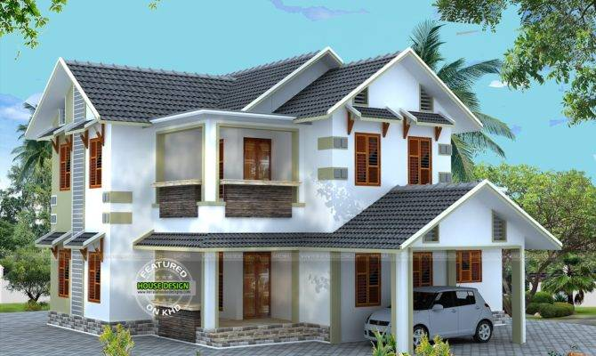 Vastu Compliant Sloping Roof House Kerala Home Design