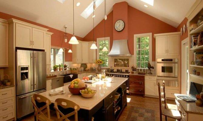 Vaulted Ceiling Kitchen Ideas Home Interior Design