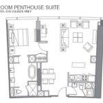 Vdara One Bedroom Penthouse Floor Plan Also Bellagio Suite