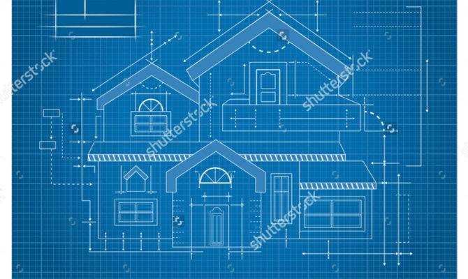Vector Modern House Blueprint Castillo