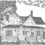 Victorian Farmhouse Drawing Mike Light