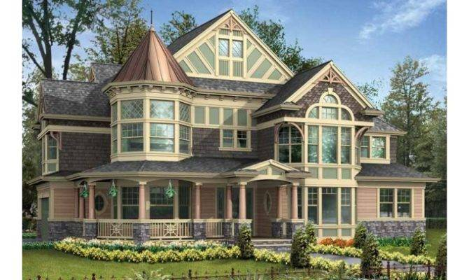 Victorian House Plans Turrets Addition Style