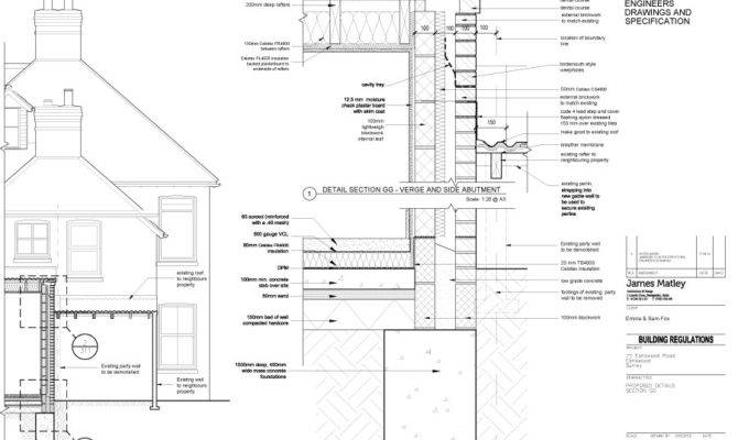 Victorian Semi Kitchen Extension House Party Wall Detail