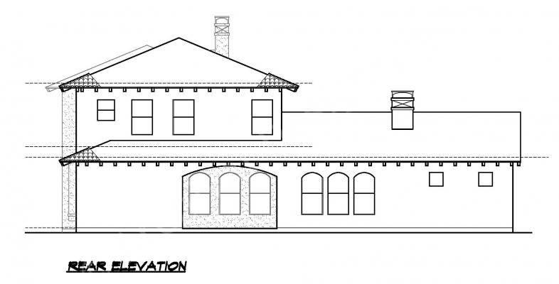 Villa Palladian House Plans Home Archival Designs