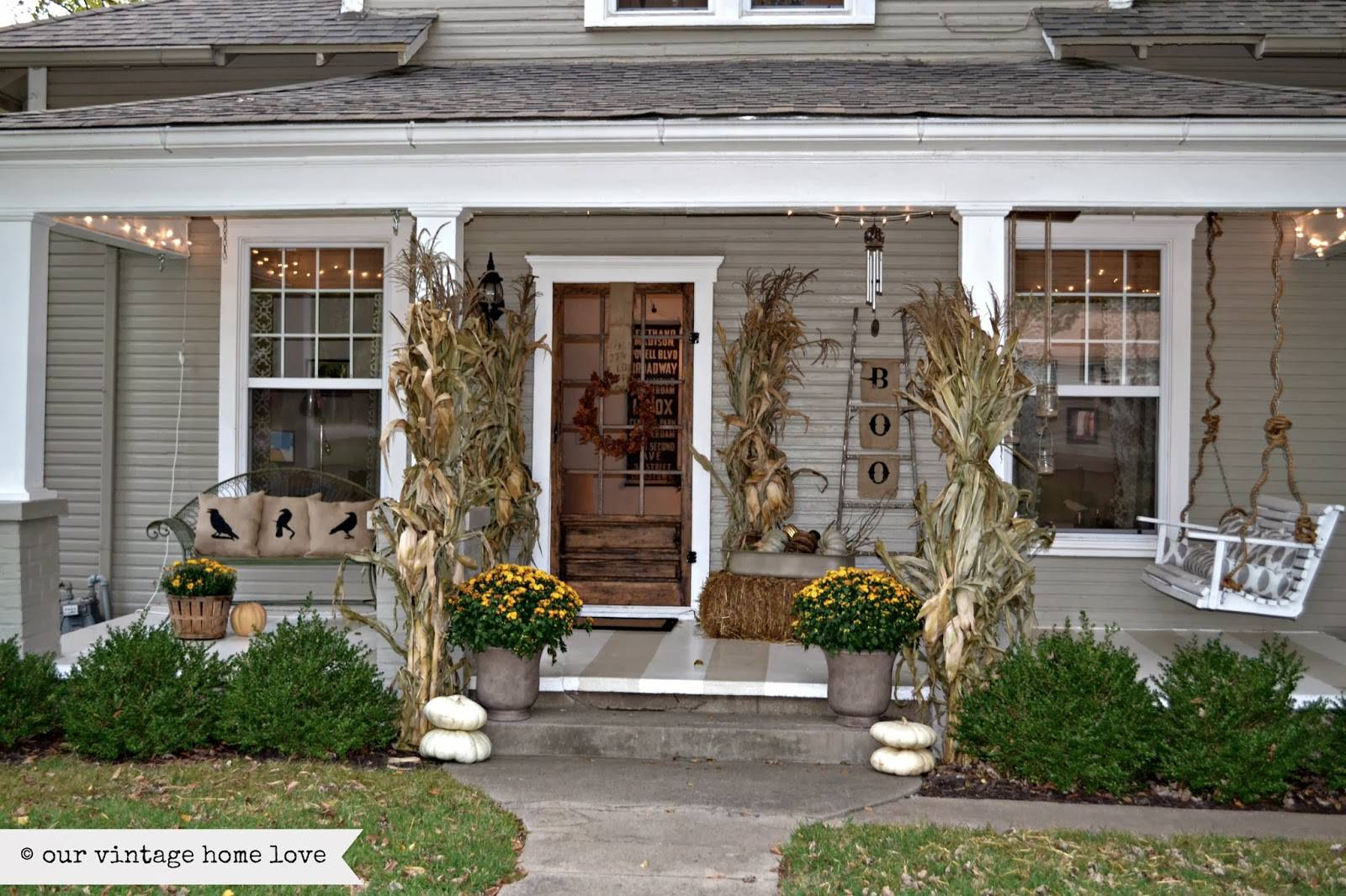 Vintage Home Love Fall Porch Ideas