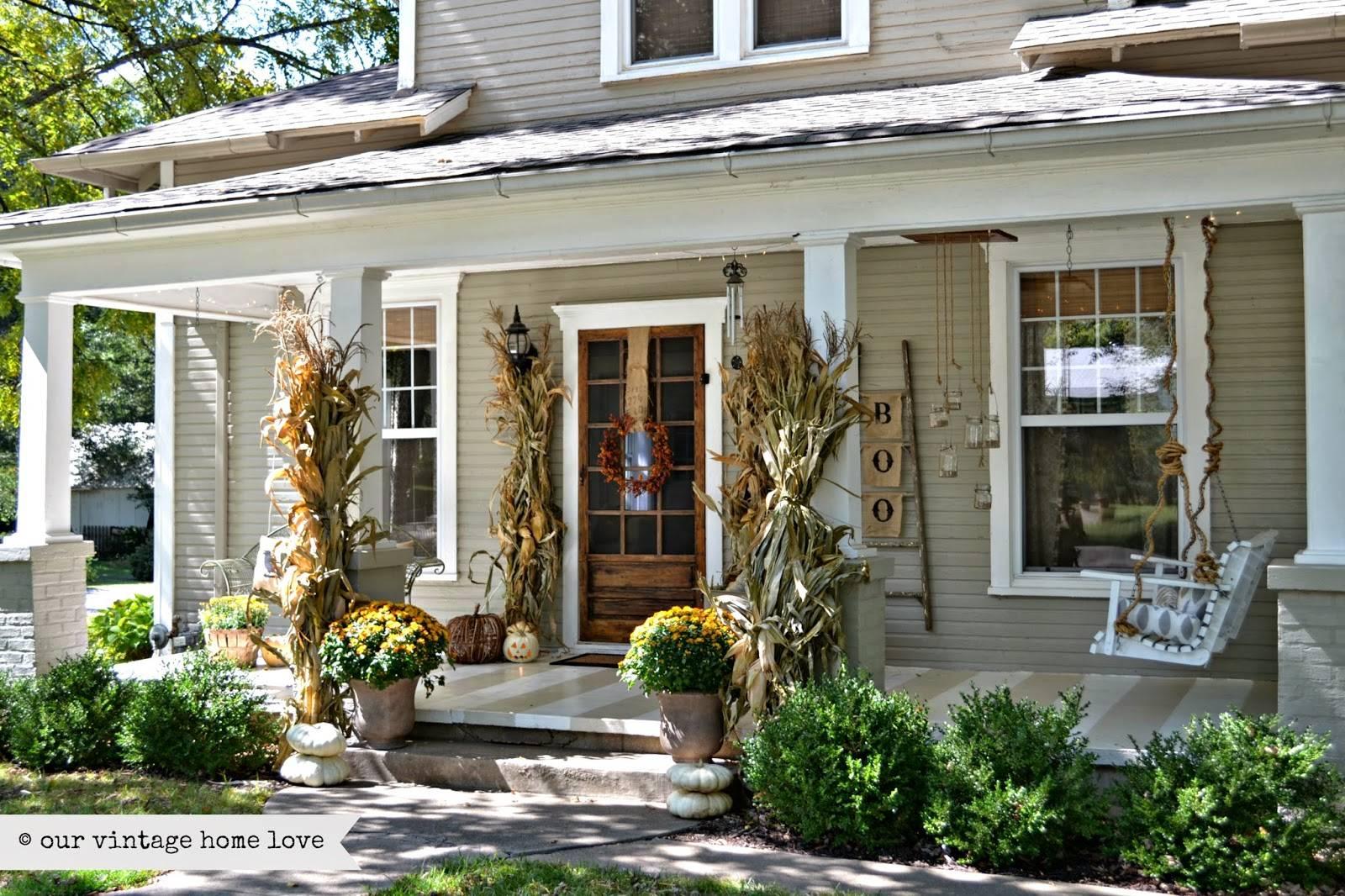 Vintage Home Love Fall Porch Ideas