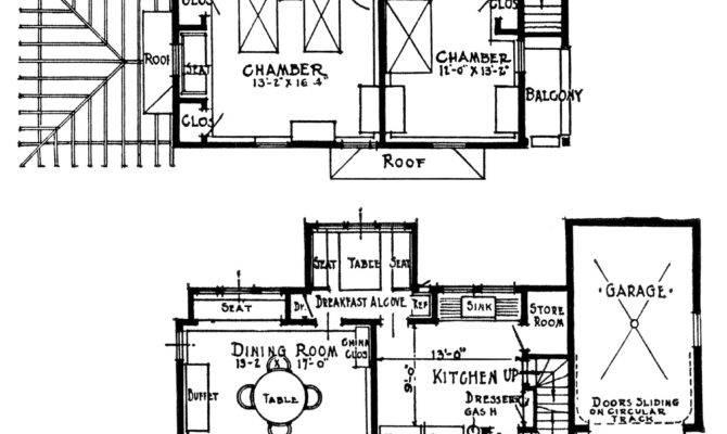 Vintage Homes Attached Garages Old Design Shop Blog