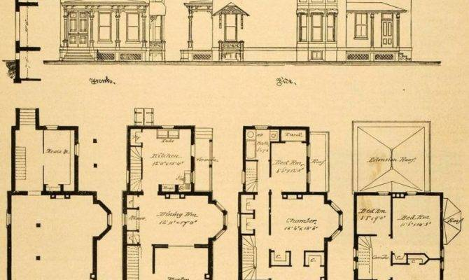 Vintage Victorian House Plans Print Country Small Original