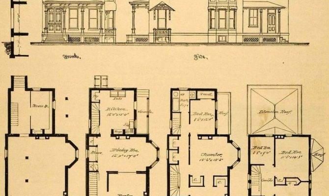 Vintage Victorian House Plans Print
