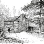 Walker Sisters Farm House Drawing Bob George