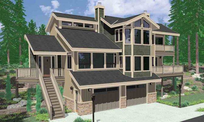 Walkout Basement House Plans Daylight Sloping Lot