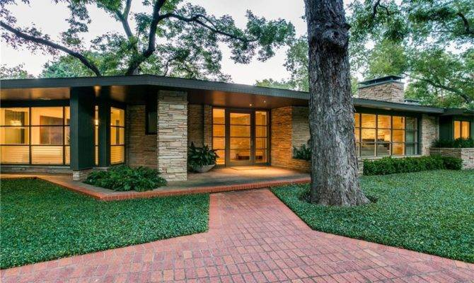 Warm Mid Century Modern Homes Floor Plans House