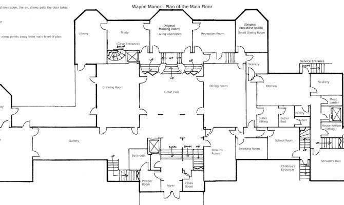 Wayne Manor Main Floor Plan Geckobot Deviantart