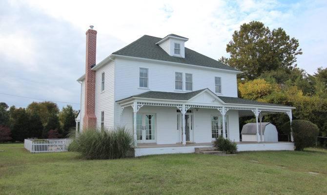 White Modern American Foursquare House Plans