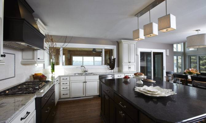 White Wooden Kitchen Cabinet Gray Counter Top