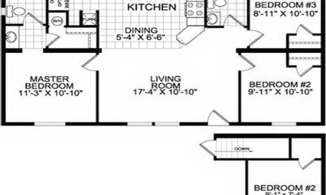 Wide Mobile Home Floor Plans Catherdal Double