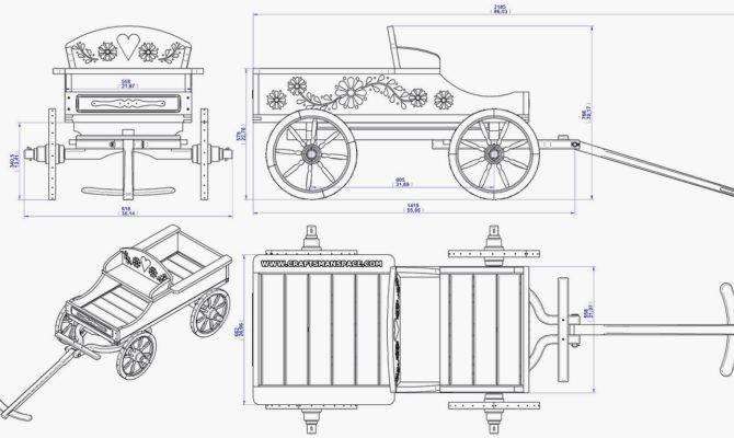 Wild West Carriage Flower Pot Stand Plan Main Assembly Drawing