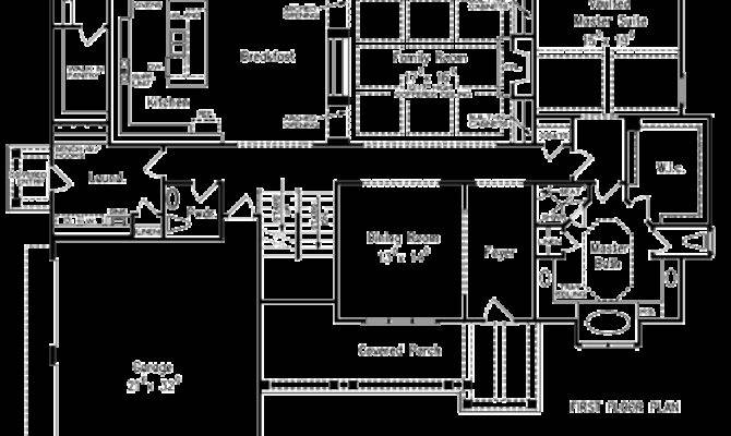 Willingham Manor House Plans First Floor Plan