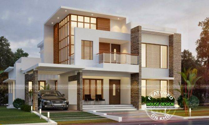 Wonderful Double Storey House Designs Civil Engineering Tuts