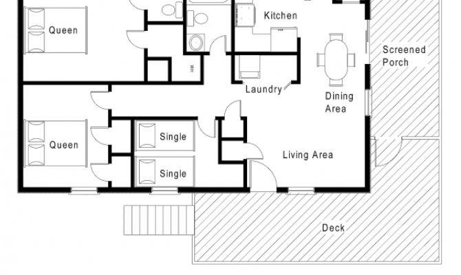 Wonderful Simple Small House Floor Plans One Level