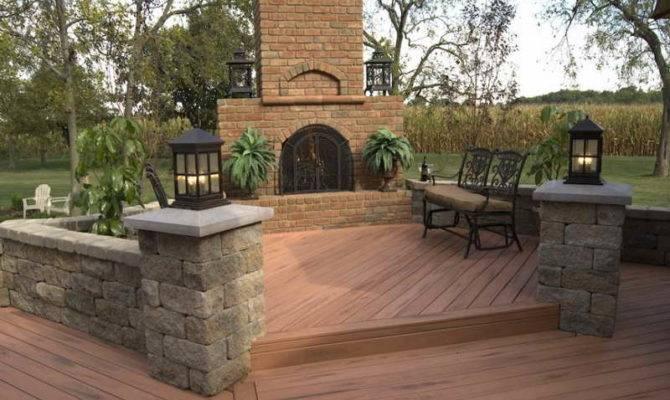 Wood Deck Designs Patio Trex