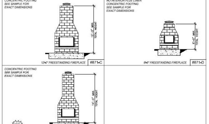 Wood Work Masonry Fireplace Blueprints Pdf Plans