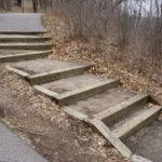 Wooden Box Steps Asphalt Fill Large