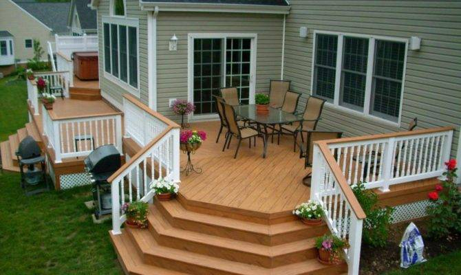 Wooden Deck Design Ideas Classic Fence Square