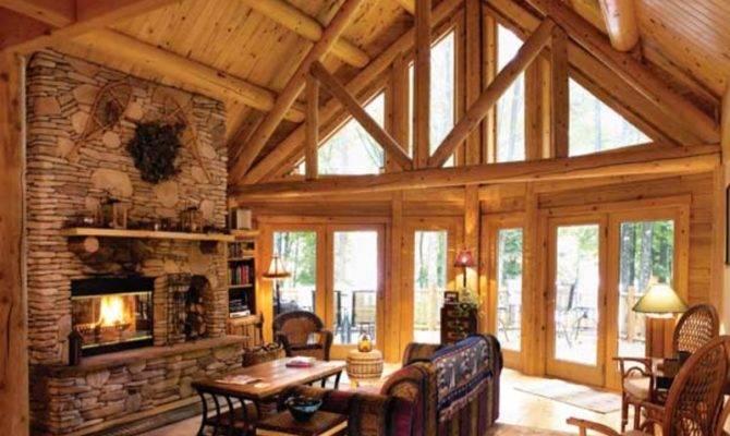 Wooden Living Room Set Log Cabin Ideas Small