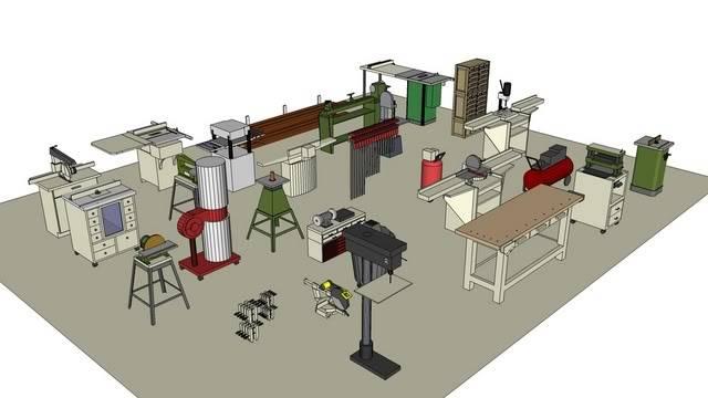Woods Make Woodworking Shop Layout Designs
