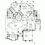 Woodwork House Plans Pool Courtyard Pdf