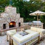 Wrap Around Patio Contemporary Stone Solid Color