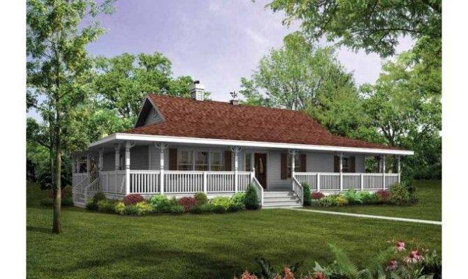 Wrap Around Porch Eplans Farmhouse House Plan Wraparound