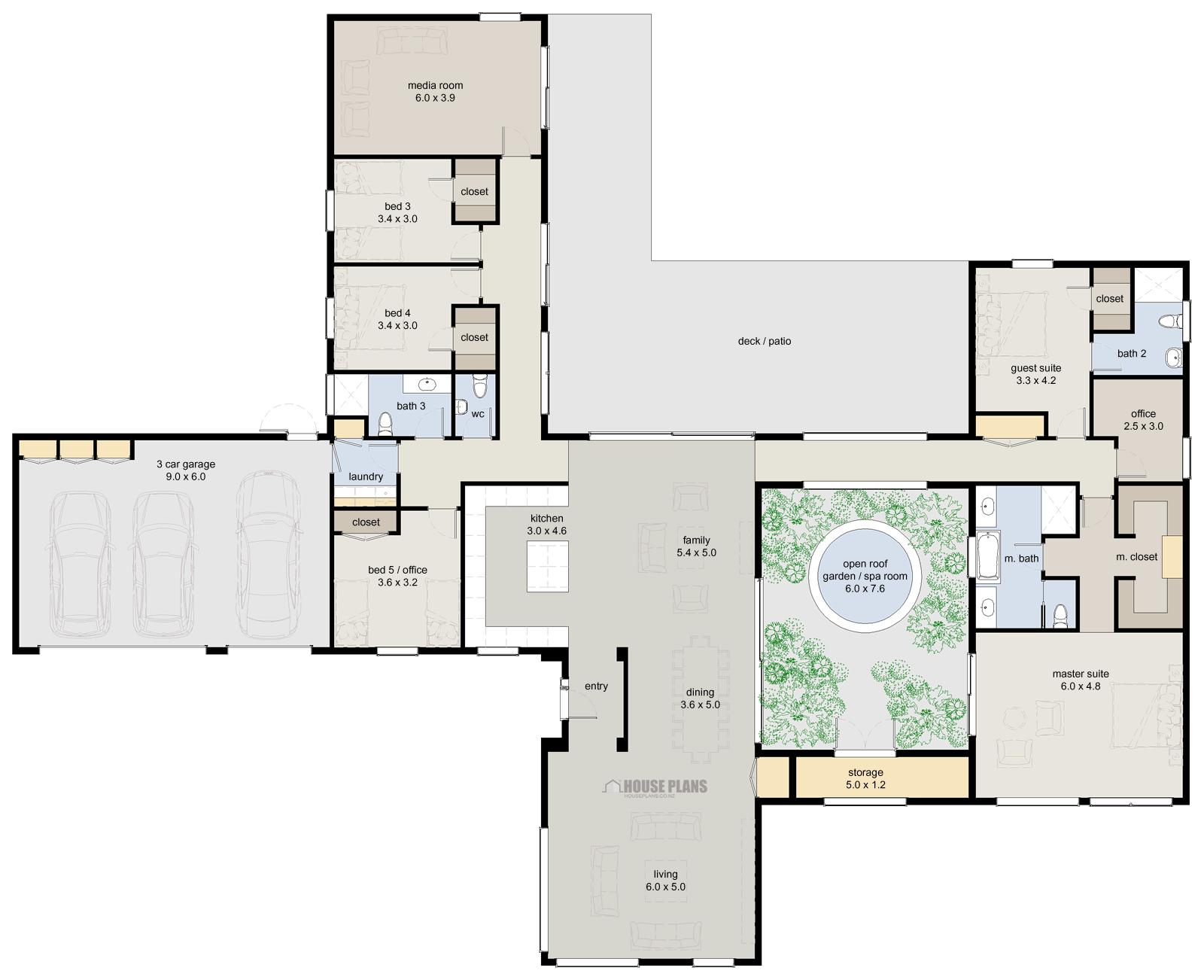 Zen Lifestyle Bedroom House Plans New Zealand Ltd